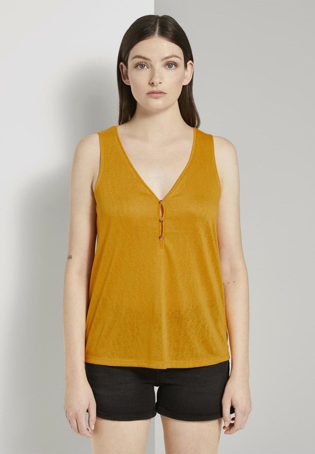 MIT KNÖPFEN - Blusa - orange yellow