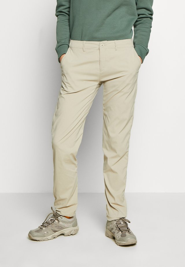 LIQUID ROCK PANTS - Ulkohousut - hay beige