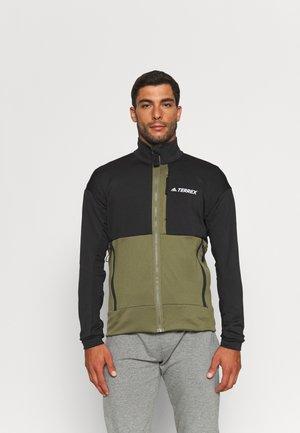 TXFLOOCE - Fleece jacket - black/focus olive