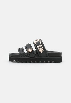 LAUREN TARO - Pantofle - black