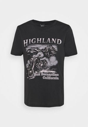 IDA TEE - T-shirt con stampa - offblack