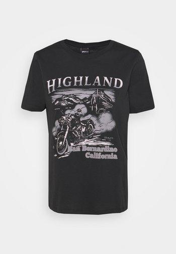 IDA TEE - Camiseta estampada - offblack