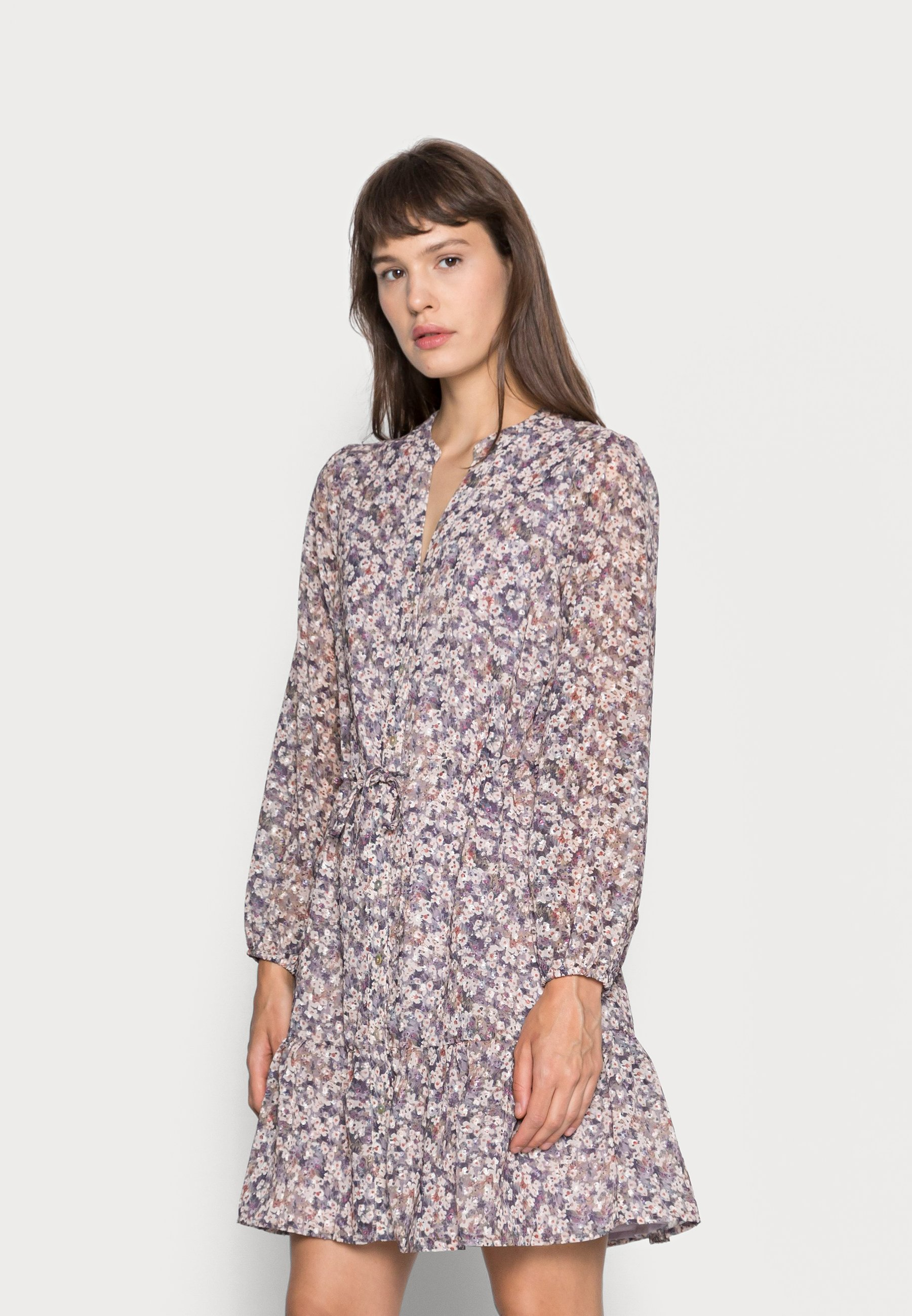 Women DRESS BUTTONS LILAC FLORAL - Day dress