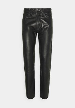 KEITH - Leather trousers - black