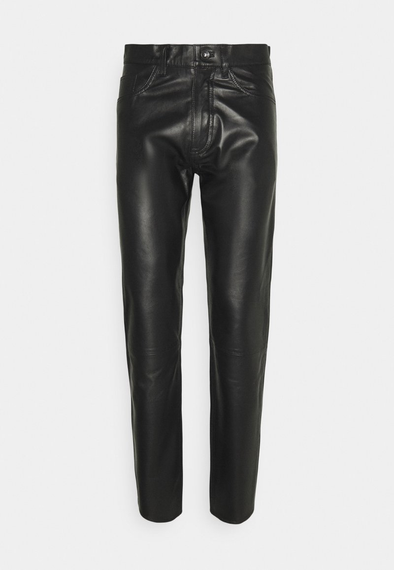 Tiger of Sweden Jeans - KEITH - Leather trousers - black