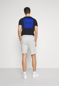 Pier One - 2 PACK - Shorts - mottled light grey/dark blue - 2