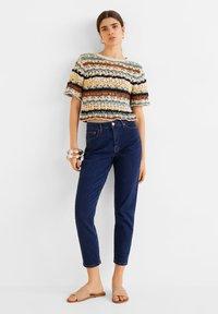 Mango - MOM - Slim fit jeans - dunkelblau - 3