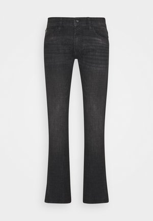 SLIM PIERS - Džíny Slim Fit - dark stone black denim