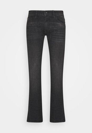 SLIM PIERS - Slim fit jeans - dark stone black denim