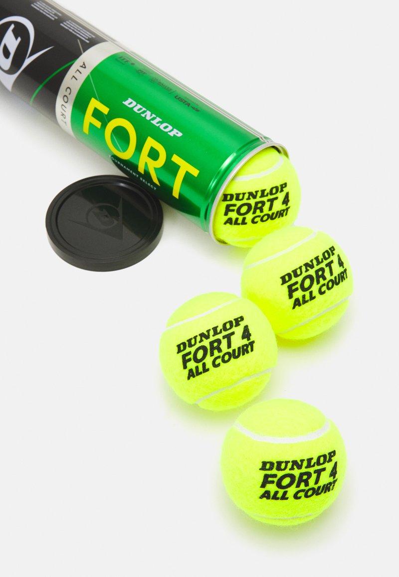 Dunlop - FORT ALL COURT 4 PACK UNISEX - Bollar - gelb