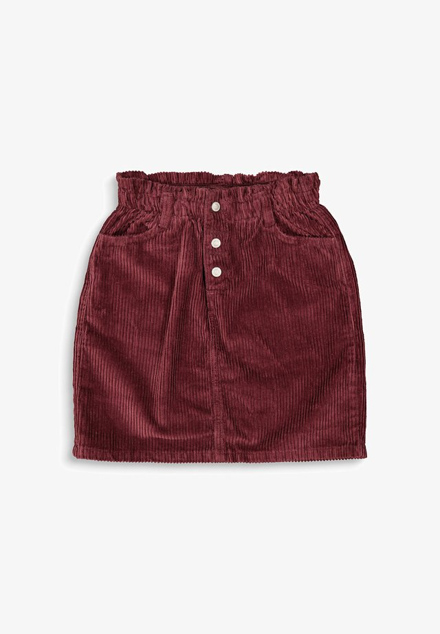 Pleated skirt - bordeaux red