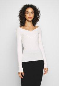 Even&Odd - BARDOT NECKLINE - Sweter - white - 0