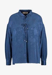Mos Mosh - IRIS FLOWER BLOUSE - Blouse - dark blue - 6