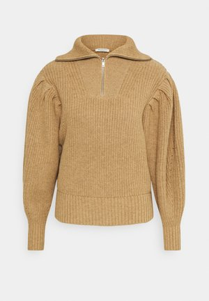 SLFKATTY PUFF SLEEVE  - Strikpullover /Striktrøjer - tigers eye/melange