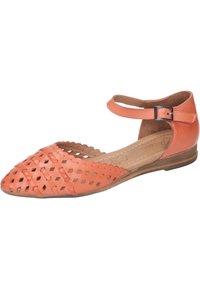 Piazza - Ankle strap ballet pumps - orange - 1