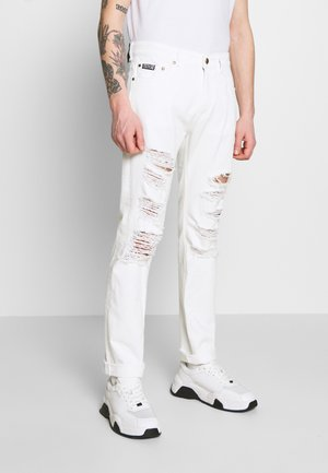 MILANO DESTROYED - Slim fit jeans - white