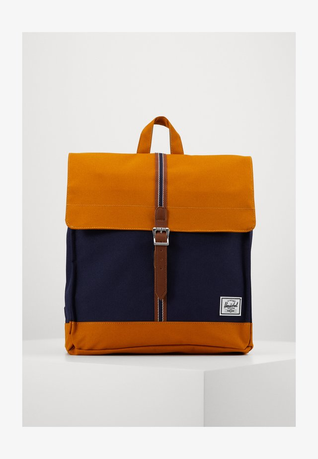 CITY MID VOLUME - Rucksack - peacoat/buckthorn brown