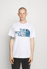 The North Face - STANDARD TEE - Print T-shirt - white/clear lake blue - 0