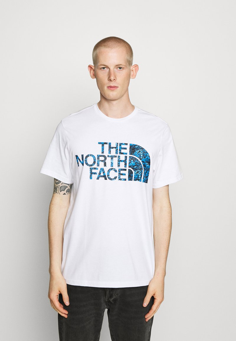 The North Face - STANDARD TEE - Print T-shirt - white/clear lake blue