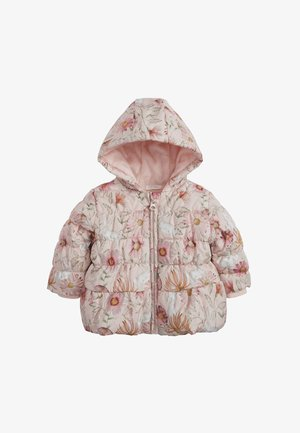 FLORAL CHARACTER PRINT HOODED - Down jacket - pink
