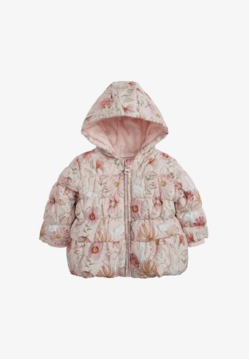 FLORAL CHARACTER PRINT HOODED