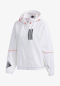 Soft shell jacket - white/black
