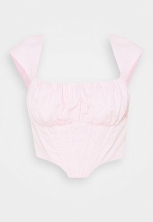 RUCHED BUST CORSET TOP - Blouse - pink