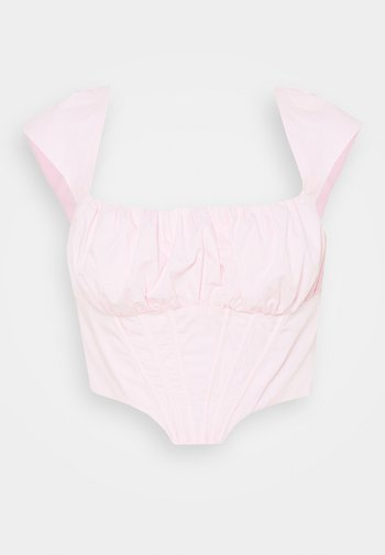 RUCHED BUST CORSET TOP - Bluser - pink