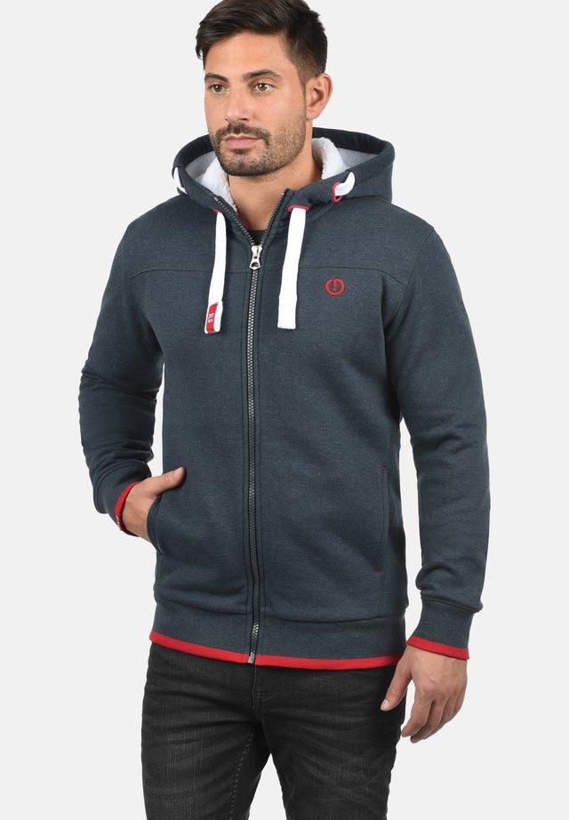 BenjaminZip Pile - Zip-up hoodie - mottled blue