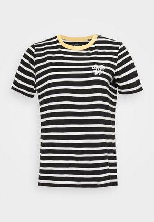 DAKOTA STRIPE GRAPHIC TEE - Print T-shirt - black