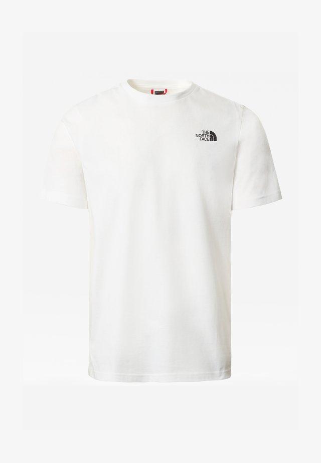 M SS MULTIBOX TEE - T-shirt print - tnfwht/tnfblk/tnfwht/flar