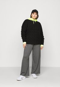 CAPSULE by Simply Be - ROPE CABLE JUMPER - Jumper - black - 1
