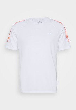ICON - T-shirt z nadrukiem - brilliant white/flash coral