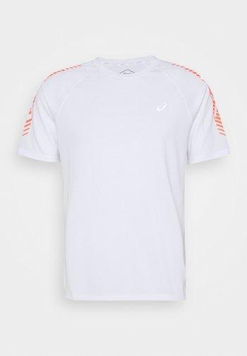 ICON - Camiseta estampada - brilliant white/flash coral
