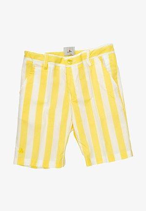 BERMUDA - Shorts - bianco/giallo