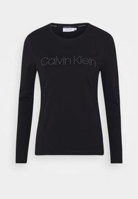 Calvin Klein - STUD LOGO TEE - Top sdlouhým rukávem - black - 4
