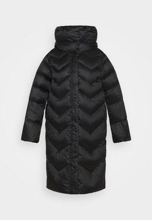 BUSSETO - Kabát zprachového peří - nero