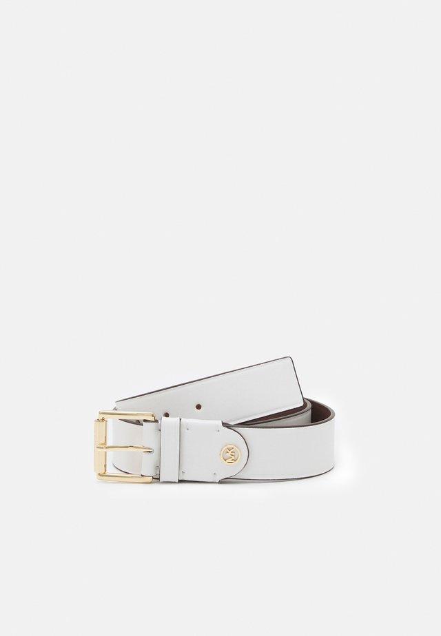 BURNISHED BELT - Belt - optic white/black/gold