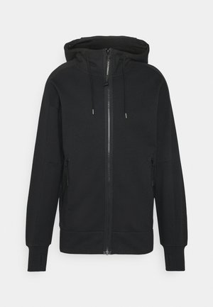 HOODED OPEN - Sweatshirt - black