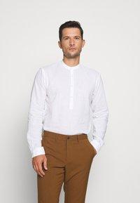 TOM TAILOR DENIM - MIX TUNIC - Košile - white - 0