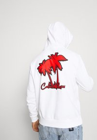 Calvin Klein - SUMMER GRAPHIC BACK PRINT HOODIE - Felpa - bright white - 3