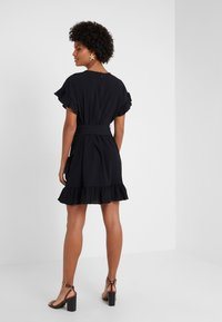 MICHAEL Michael Kors - RUFFLE WRAP DRESS - Vestito estivo - black - 2