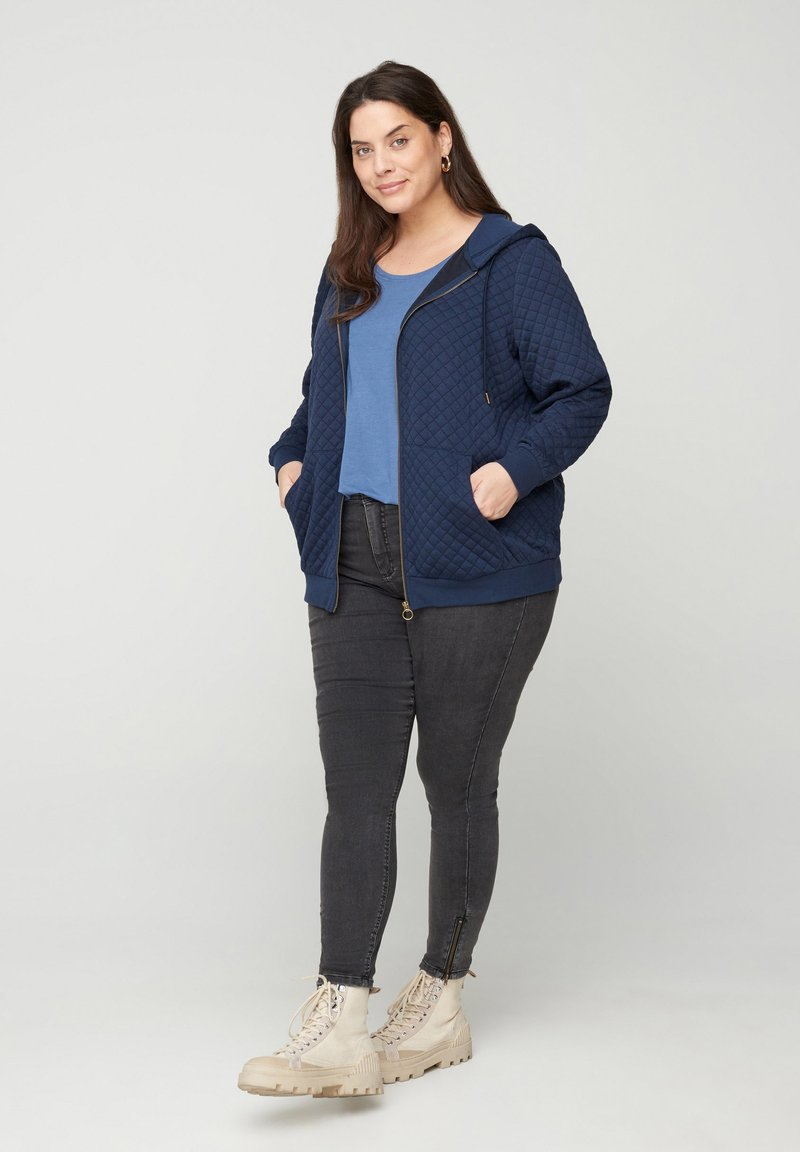 Zizzi - Zip-up hoodie - blue
