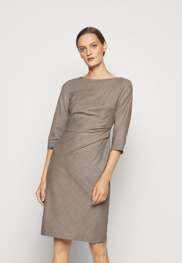 BURGOS - Shift dress - kamel