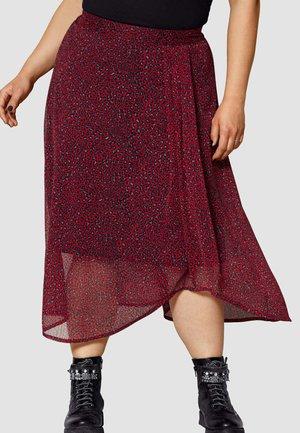 A-line skirt - rot schwarz grau