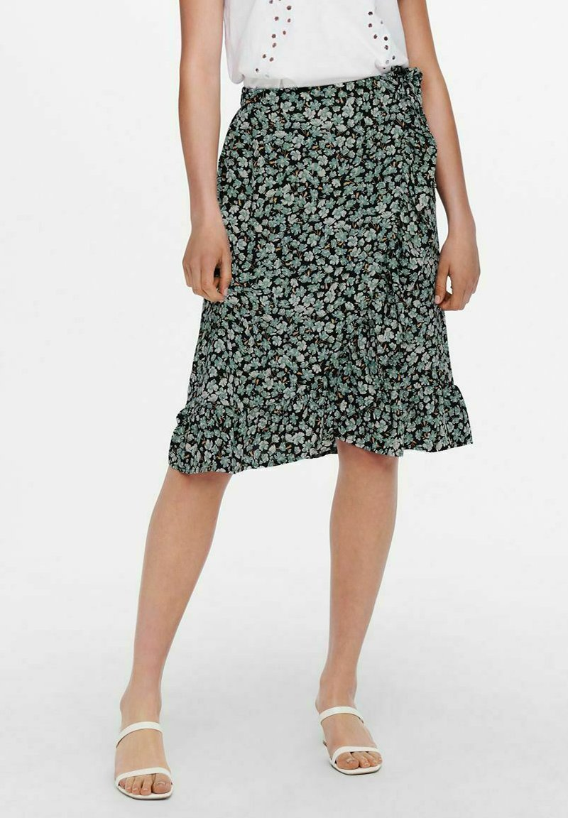 ONLY - Wrap skirt - dusty turquoise