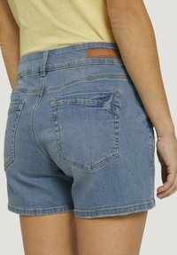 TOM TAILOR DENIM - CAJSA - Denim shorts - used light stone blue denim - 3