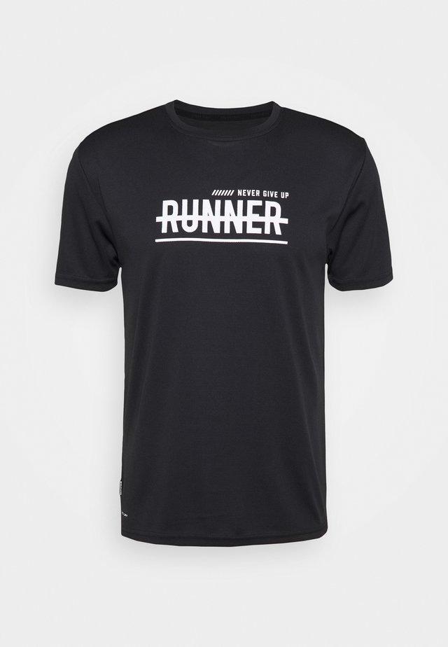 WIMON TEE - T-shirt imprimé - black