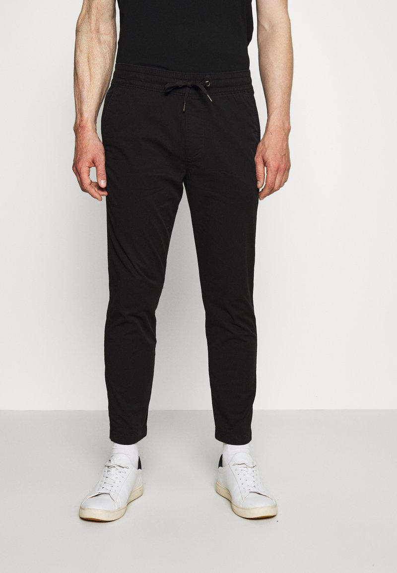 Hollister Co. - PULLON CROP - Trousers - black