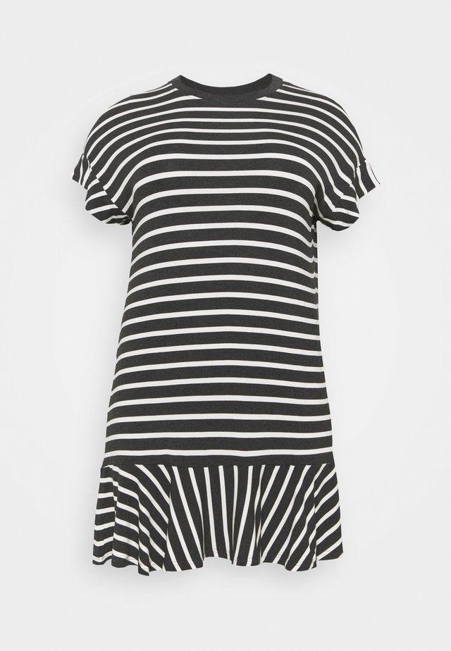 HEM DRESS - Sukienka z dżerseju - black/white
